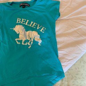 5/$30 Unicorn / Believe / Short Sleeve / Tee